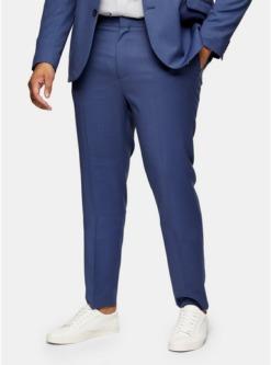 big tall anzughose in enger passform blau blau 1