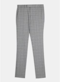 big tall anzughose in enger passform mit karomuster grau grau