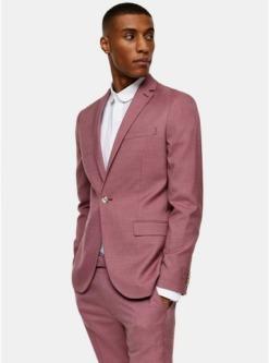 einreihiger blazer mit fallendem revers pink pink