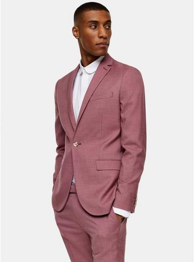 Einreihiger Blazer mit fallendem Revers, pink, PINK