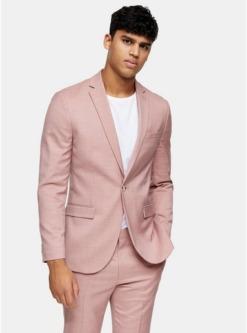 einreihiger blazer mit spitzem revers pink pink