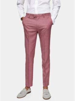 eng geschnittene anzughose pink pink