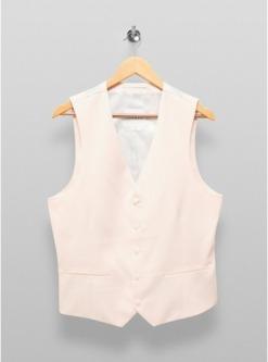 eng geschnittene einreihige anzugweste pink pink