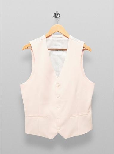 Eng geschnittene, einreihige Anzugweste, pink, PINK