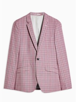 enger einreihiger blazer mit fallendem revers pink pink