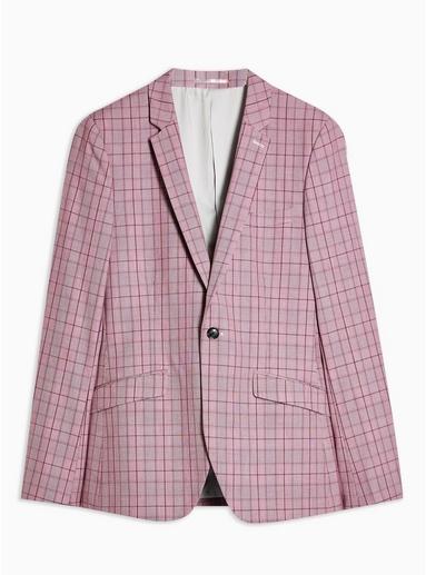 Enger, einreihiger Blazer mit fallendem Revers, pink, PINK