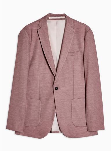 Enger Jersey-Blazer mit fallendem Revers, weinrot, ROT