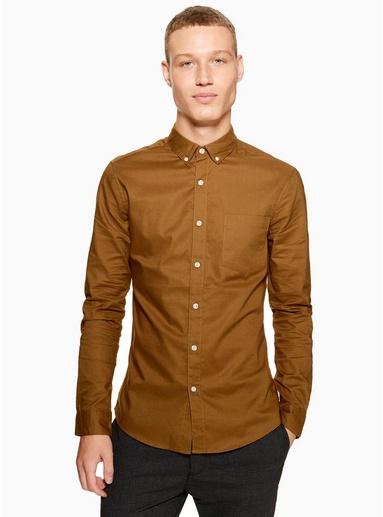 GELBLangärmeliges Stretch-Oxfordhemd, GELB