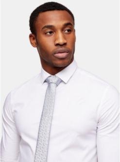 krawatte mit paisley muster silber und blau silber