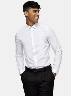 multischmal geschnittene hemden im 2er pack weiss und schwarz multi