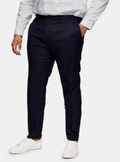 navy blaubig tall strukturierte anzughose navyblau navy blau