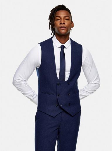 NAVY BLAUHarry Brown Anzugweste aus Tweed, navyblau, NAVY BLAU