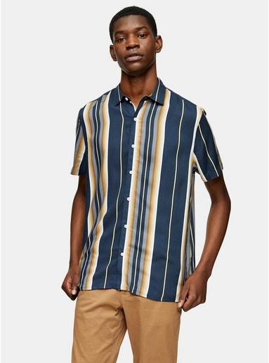 NAVY BLAUSchmal geschnittenes Hemd mit Streifen, navyblau, NAVY BLAU