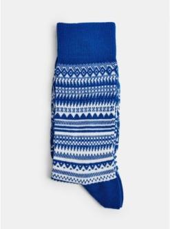 navy blauweihnachtssportsocken mit jacquarddesign navyblau navy blau