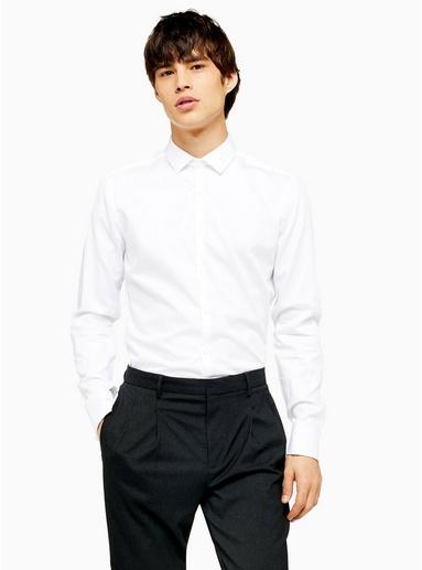 Premium-Hemd mit ägyptischer Baumwolle, weiß, WEIß