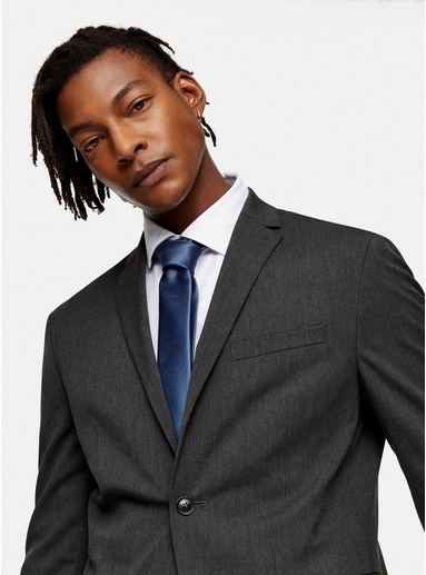 Premium-Krawatte aus Seide, blau, BLAU