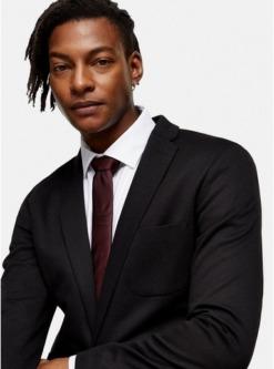 premium krawatte aus seide weinrot rot