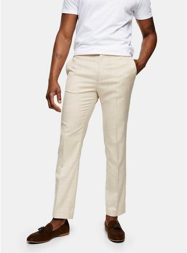 Schmale Anzughose, beige, BEIGE