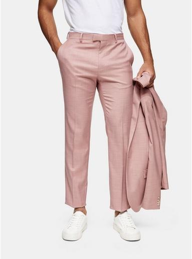 Schmale Anzughose, pink, PINK