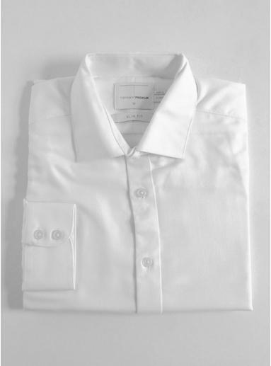 Schmales Premium-Hemd aus ägyptischer Baumwolle, weiß, WEIß