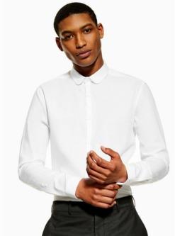 schmales premium hemd aus twill weiss weiss