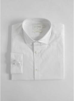 schmales premium hemd mit doppelmanschetten weiss weiss