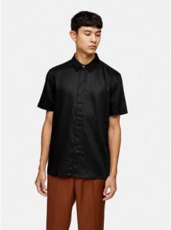 schmales premium hemd schwarz schwarz