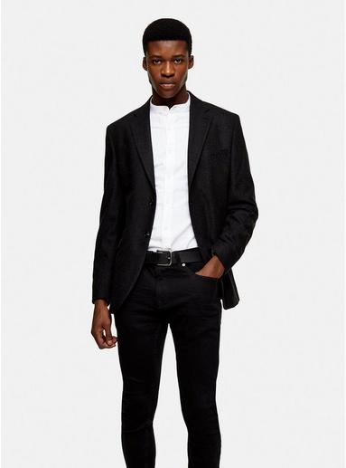 Selected Homme Blazer aus Wollmischung, grau, GRAU