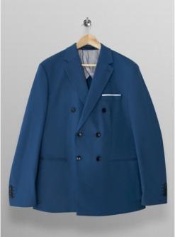 selected homme blazer mit karomuster blau blau