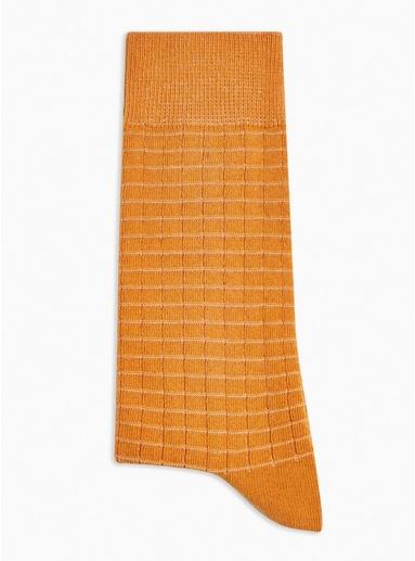 Socken mit Waffelstruktur, senfgelb, GELB