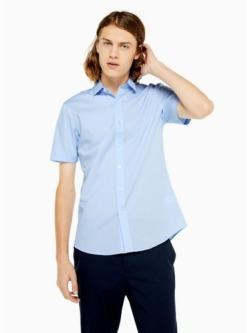 stretch skinny hemd hellblau blau
