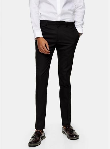 Superenge Anzughose, schwarz, SCHWARZ