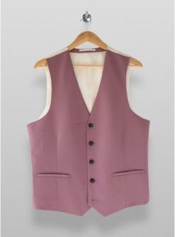 violetteng geschnittene einreihige anzugweste flieder violett