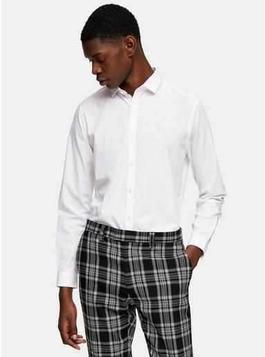 Weißes Anzughemd, WEIß